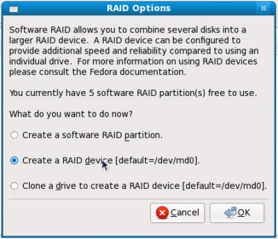 17 when done with all select create a RAID device